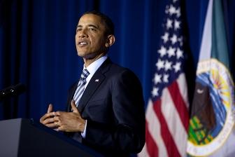 Le président Obama la troisième conférence de la Maison Blanche dédiée aux Nations Indiennes. © Pete Souza